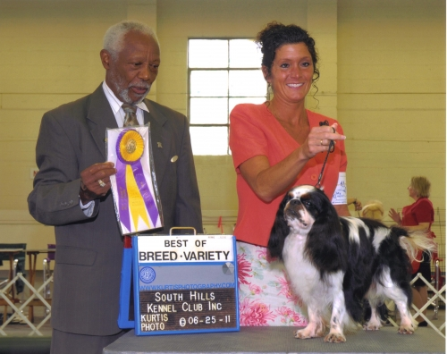 A nice breed win from judge Eugene Blake